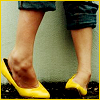 anitabuchan: yellow shoes (yellow)