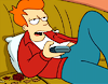 fueschgast: (non-fandom: watching TV (Futurama))