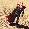 jedibuttercup: Thor in full armor, in the desert (thor)