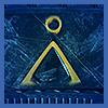 "sg_military_beta: YELLOW STARGATE ""EARTH"" GLYPH AGAINST A BLUE BACKGROUND (SG MILITARY BETA DEFAULT GLYPH) (Default)"