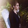 theladylazarus: Buffy stands before an angel grave marker (in the raw wind of a new world)