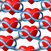 azurelunatic: Polyamory infinite hearts, in a polymer-like grid (polymer, polycule)