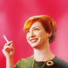 flummoxicated: Joan from Mad Men laughing (Joan LOL)