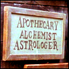 flummoxicated: Apothecary's sign from the movie Shakespeare in Love (Apothecary Alchemy Astrology etc)