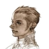cotejardin: An angular Balthiar sketched with minimal coloring on his face (sketch)