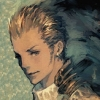 cotejardin: A sketch of Balthier with a dark background behind him (somber)