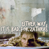 "all_strange_wonders: The phrase ""Either way, it is bad for Zathras"" are superimposed over a picture of the character Zathras from Babylon 5. (bad for zathras)"