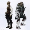 cotejardin: Balthier looking to the left, and an imperial soldier in armor on the right (weapon)