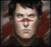 legohousesystem: Carver Hawke Fanart with a blood stripe across his nose like Hawke's (Carver)