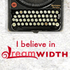 lanterne_rouee: i believe in dreamwidth plus a typewriter (dw believe typewriter)