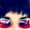 makialexandria: Photo of Maki in red sunglasses (maki)