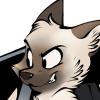 deskitty: A maniacal siamese cat's head (gofast)
