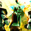 anaraine: The backs of Aayla Secura, Commander Bly and another clone trooper from the 327th, exploring the jungle planet Felucia. ([star wars] 327th star corps)