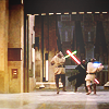 anaraine: Qui-Gon Jinn and Obi-Wan Kenobi, fighting Darth Maul in the Theed Plasma Refinery Complex on Naboo. ([star wars] duel of fates)