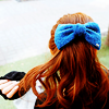 zaubra: (blue bow red hair)