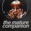 """talibusorabat: A white redheaded woman making a face """"The mature companion"""" (Doctor Who: Donna Mature)"""