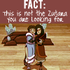 "talibusorabat: A pair of cartoon clownish actors ""FACT: This is not the Zutara you are looking for"" (Avatar: Not Zutara)"