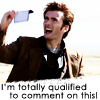 "talibusorabat: A young white man holding up a slip of paper ""I'm totally qualified to comment on this!"" (Doctor Who: Totally qualified!)"