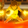 talibusorabat: A young cartoon woman gets ready to fight with fire (Avatar: Korra feel the fire)