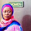 talibusorabat: A black woman in hijab looks unimmpressed (LMP: Fatima Excuse me?)