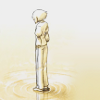 keltena: Rin standing alone in the distance, ripples around her feet ([exit fate] happy beginnings)