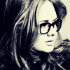 eraisme: Adele Atkins wearing glasses (adele glasses)