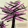 sketchesforsummer: Tree with pastel line strokes (Art: Pastels: Tree)