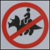 zyrya: (sign - no triceratops riding)