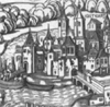 choco_frosh: Konstanz, imaginary depiction in a map of the Swabian War, 1500 (Costenitz)