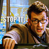 noblescientist: (glasses, Doctor Who, stop it, Tenth Doctor)