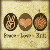 purplehaze8: (MS - Peace Love Knit)