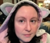 spiritchrysalis: An facial image of Rigel wearing the hood up of her cat hoodie with a mild 'meh' look on her face. (RigelFlump)
