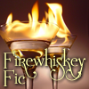 firewhiskeyfic: two flaming cocktails with the text Firewhiskey Fic (FWF default)