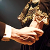 arcadiaego: The 12th Doctor and Clara hold hands. (Twelve)