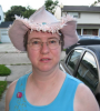 dragoness_e: Me in the pink straw cowboy hat (Pink Hat)