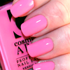 mellicious: pink manicure (fall leaves orange)