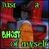 "dragoness_e: ""Just a GHOST of myself"" Starscream (Ghostie-Scream)"