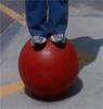chaiya: (carefully balanced foot placement)