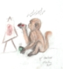 sparkletindi: (monkey, crayon, drawing)