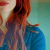 callsherselfperditax: (red hair blue jumper)