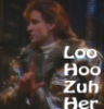 "ext_622658: Picture of Ace Rimmer (Red Dwarf) holding his hand out in an 'L' shape with the words ""Loo Hoo Zuh Her"" written over it (Default)"