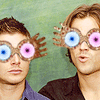 jukeboxhound_backup: (spn - brothers like wonka [dorky].)