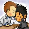 melagan: (chibi kiss)