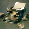melagan: (typewriter old, used and much like me)