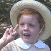 "reynardo: Me at age 4 singing ""Two Little Dickey Birds"". (Dickey-birds)"