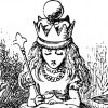 bleucanary: alice through the looking glass is finally crowned (Default)