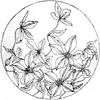 willowmeg: Round drawing of flowers, J.F. Ingalls embroidery catalogue, 1886. (blooms)