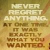 elsewhence: (never regret)