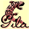 gilascave: Picture of a gila monster on a yellow background (h50_dannytummy)