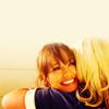 stheno: Leslie and Ann hug. (Default)
